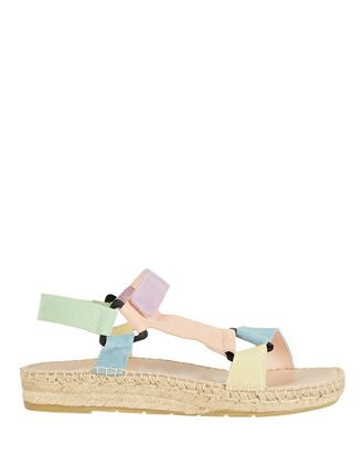 Hiking Suede Espadrille Sandals, MULTI, hi-res