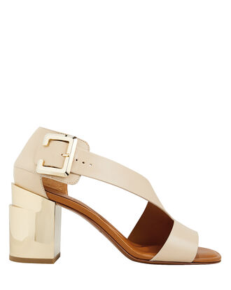 Abstract Gold Heel Sandals, LIGHT BEIGE/GOLD, hi-res