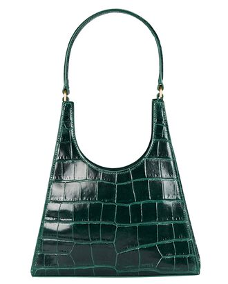 Rey Leather Shoulder Bag, GREEN, hi-res