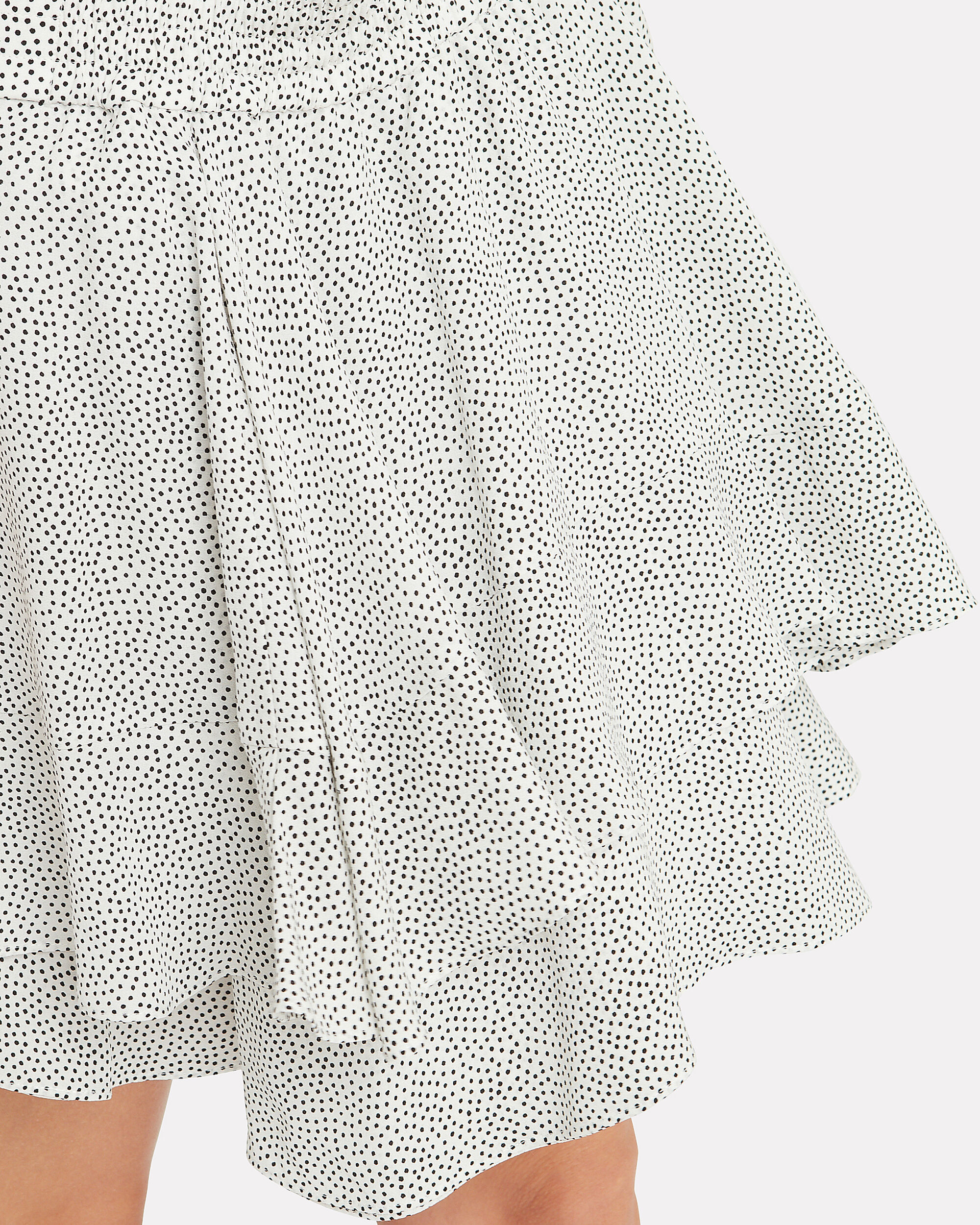 Vera Silk Mini Skirt, WHITE, hi-res