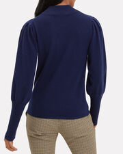 Cailyn Puff Sleeve Sweater, NAVY, hi-res