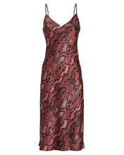 Jodie Python Slip Dress, RED/SNAKE PRINT, hi-res