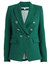 Miller Double Breasted Dickey Blazer, EMERALD, hi-res