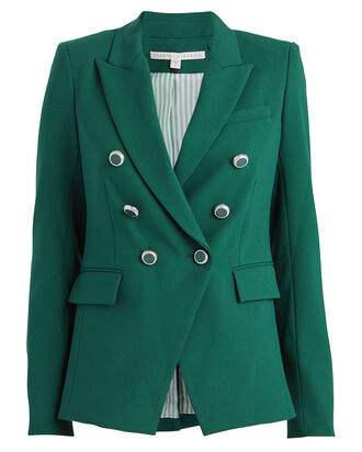 Miller Double-Breasted Dickey Blazer, EMERALD, hi-res