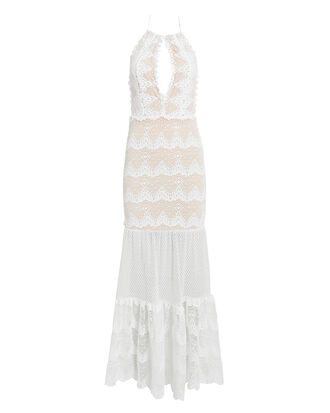Belle Maxi Dress, WHITE, hi-res