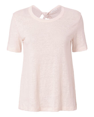 Leigh Tie Back Pale Pink Tee, BLUSH, hi-res