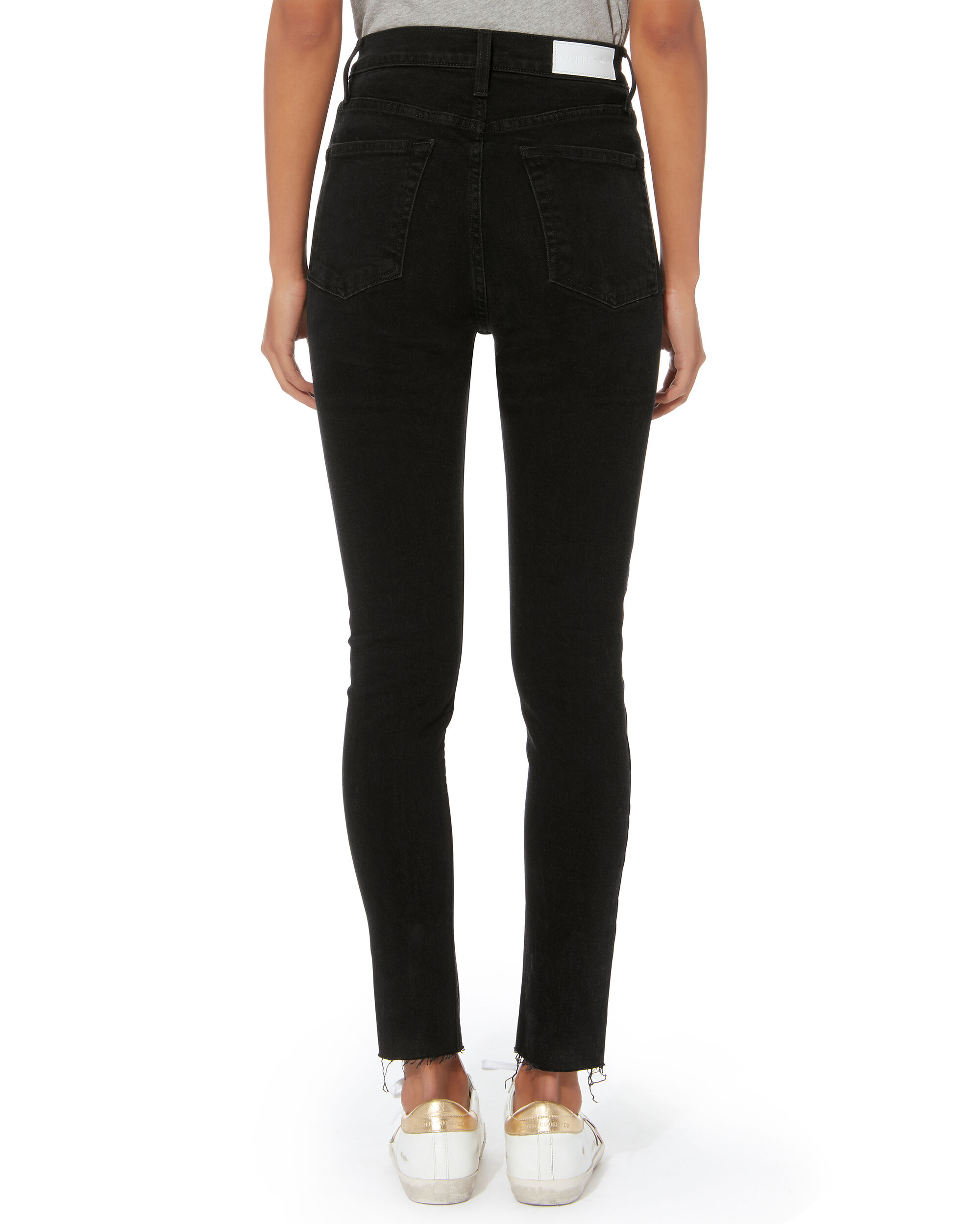 High-Rise Black Destroyed Crop Jeans, BLACK, hi-res