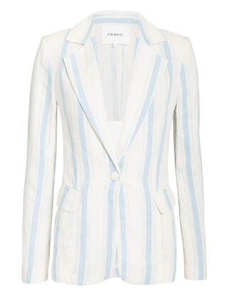 Striped Linen Blazer, IVORY/STRIPES, hi-res