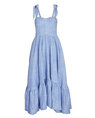 Georgia Bustier Midi Dress, BLUE, hi-res