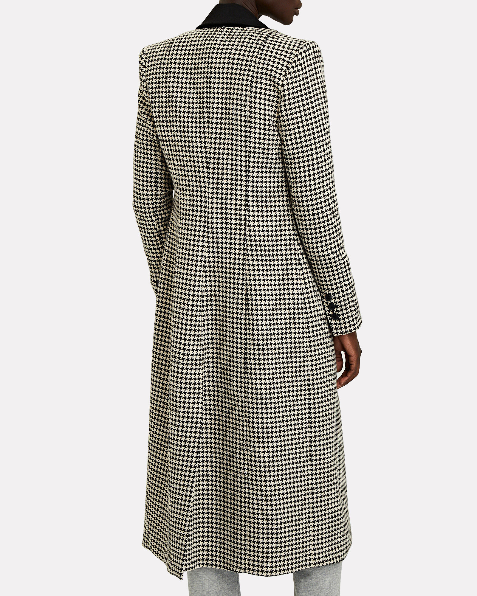 Brando Houndstooth Coat, BLACK/BEIGE, hi-res