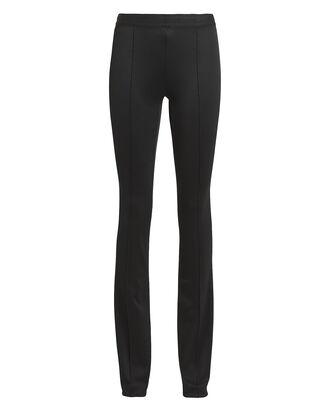 Double Needle Flared Leggings, BLACK, hi-res