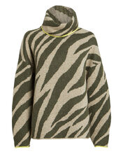 Kiki Zebra IntarsiaTurtleneck Sweater, MULTI, hi-res