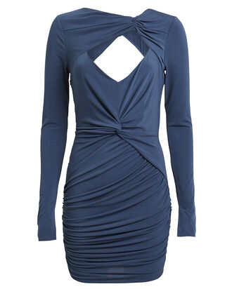 Fever Draped Cut-Out Dress, DEEP SEA BLUE, hi-res