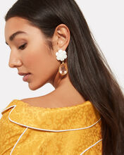 Lily Pad Drop Earrings, GOLD, hi-res