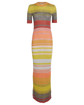 Brightside Striped Rib Knit Dress, HEATHER STRIPE, hi-res
