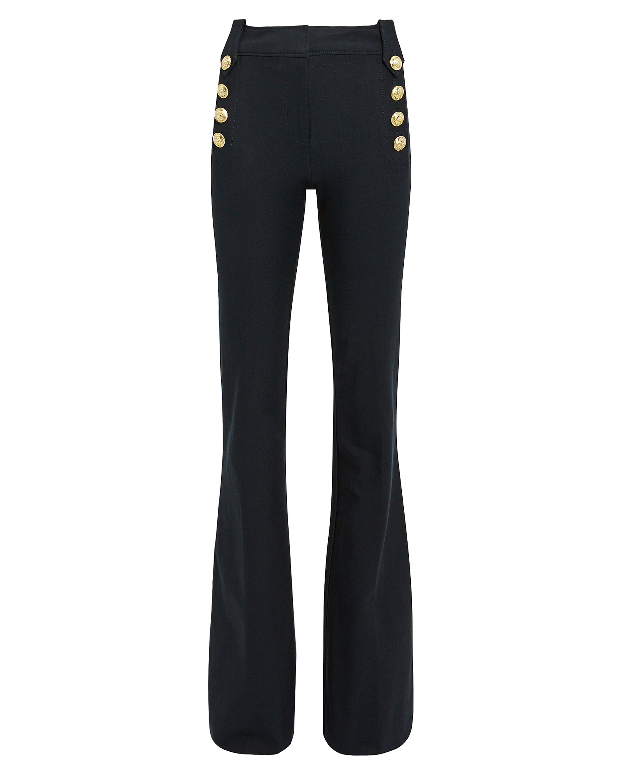 Robertson Sailor Flare Trousers, NAVY, hi-res
