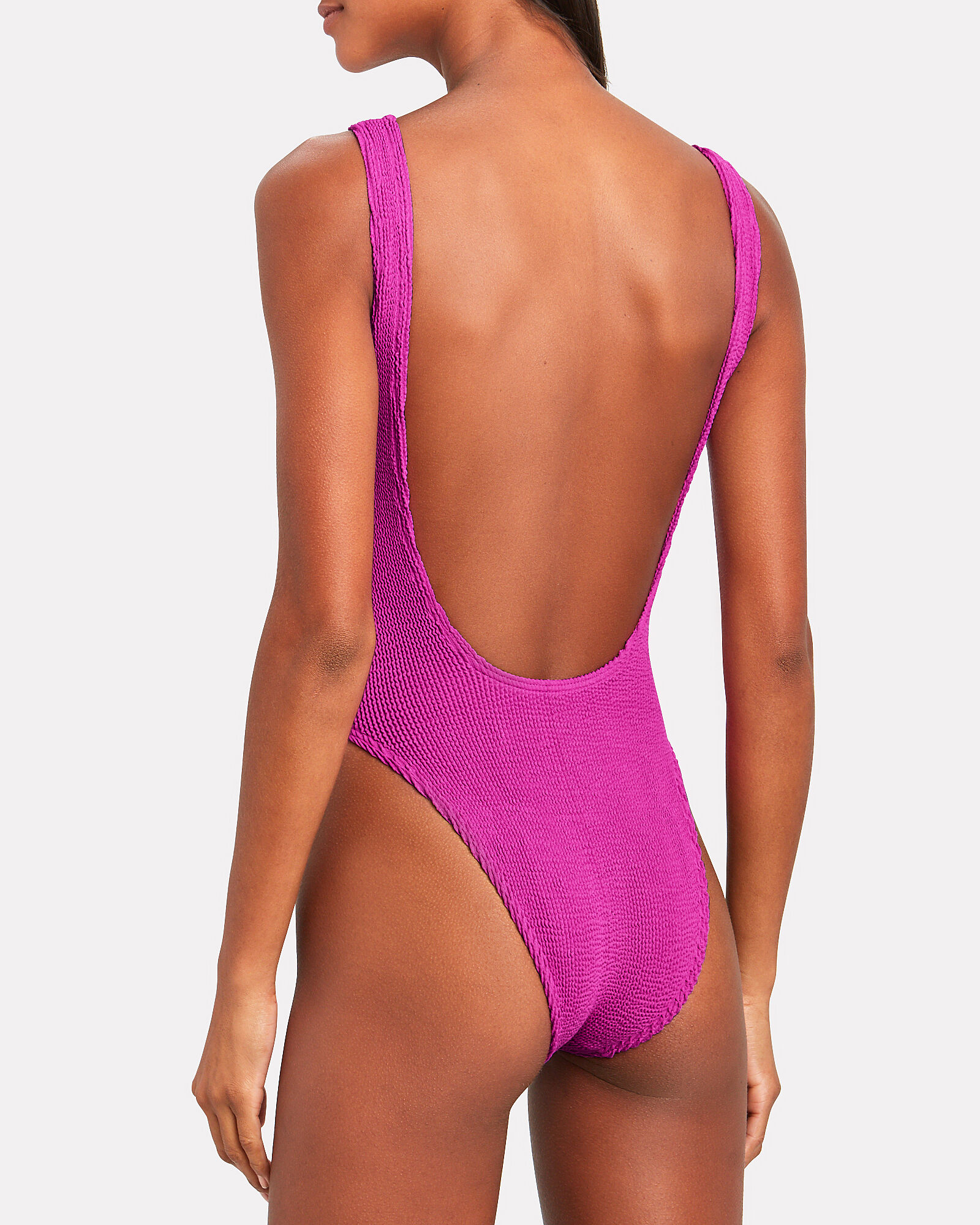 Moto Zip One-Piece Swimsuit, PINK, hi-res