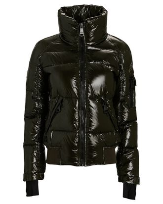 Freestyle Bomber Down Puffer Jacket, DARK OLIVE, hi-res