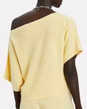 Margot One-Shoulder Cashmere Sweater, YELLOW, hi-res