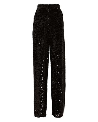 Galen Sequined Wide-Leg Trousers, BLACK, hi-res