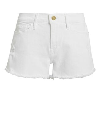 Le Cut-Off Denim Shorts, BLANC, hi-res