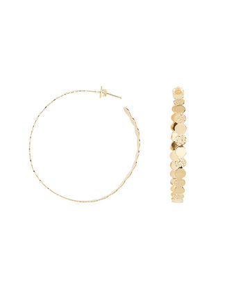 Ines Hoop Earrings, GOLD, hi-res