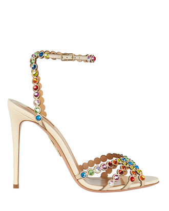 Tequila Crystal Embellished Sandals, RAINBOW, hi-res