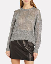 Dokis Metallic Oversized Sweater, GUNMETAL, hi-res