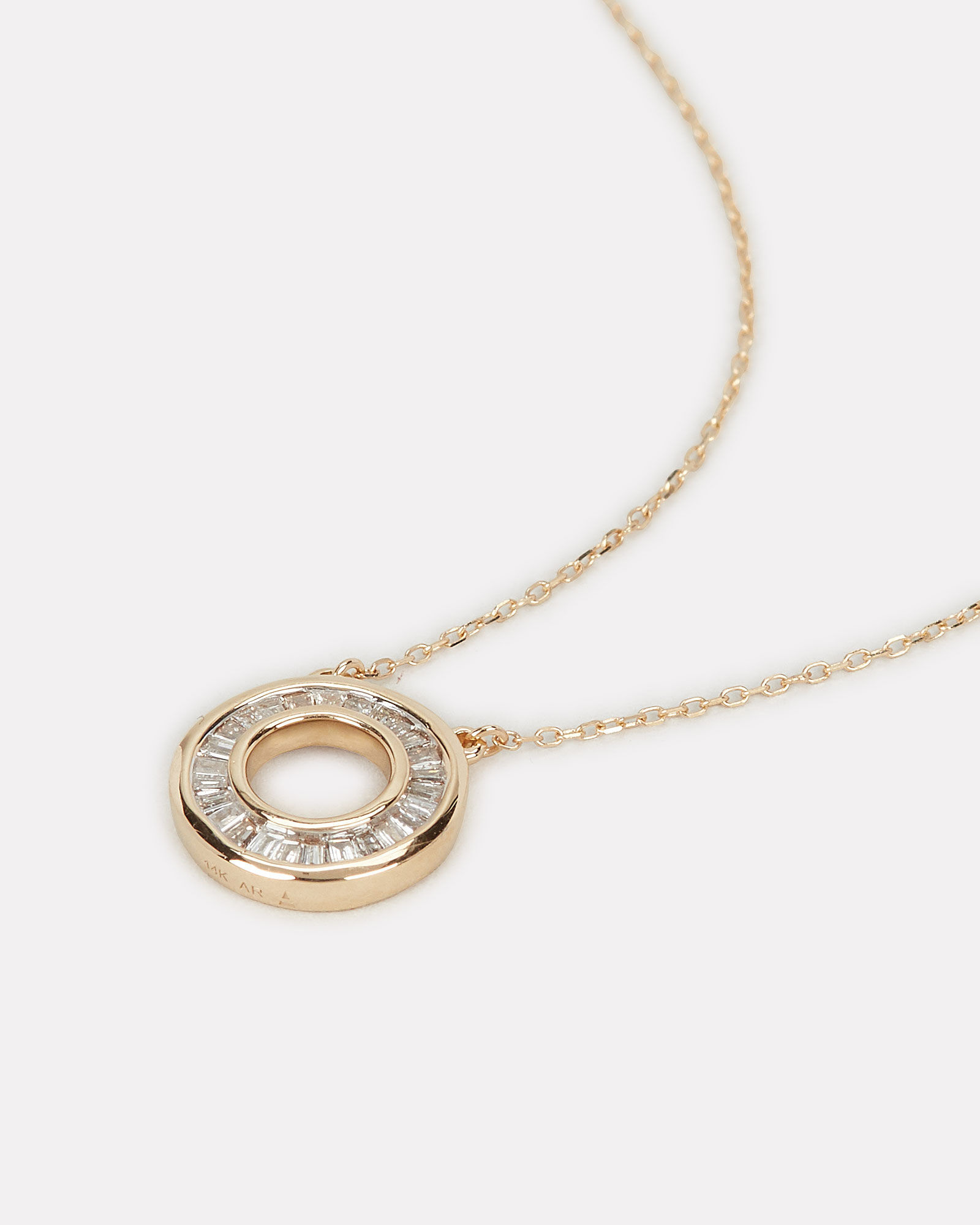 Baguette Circle Necklace, GOLD, hi-res