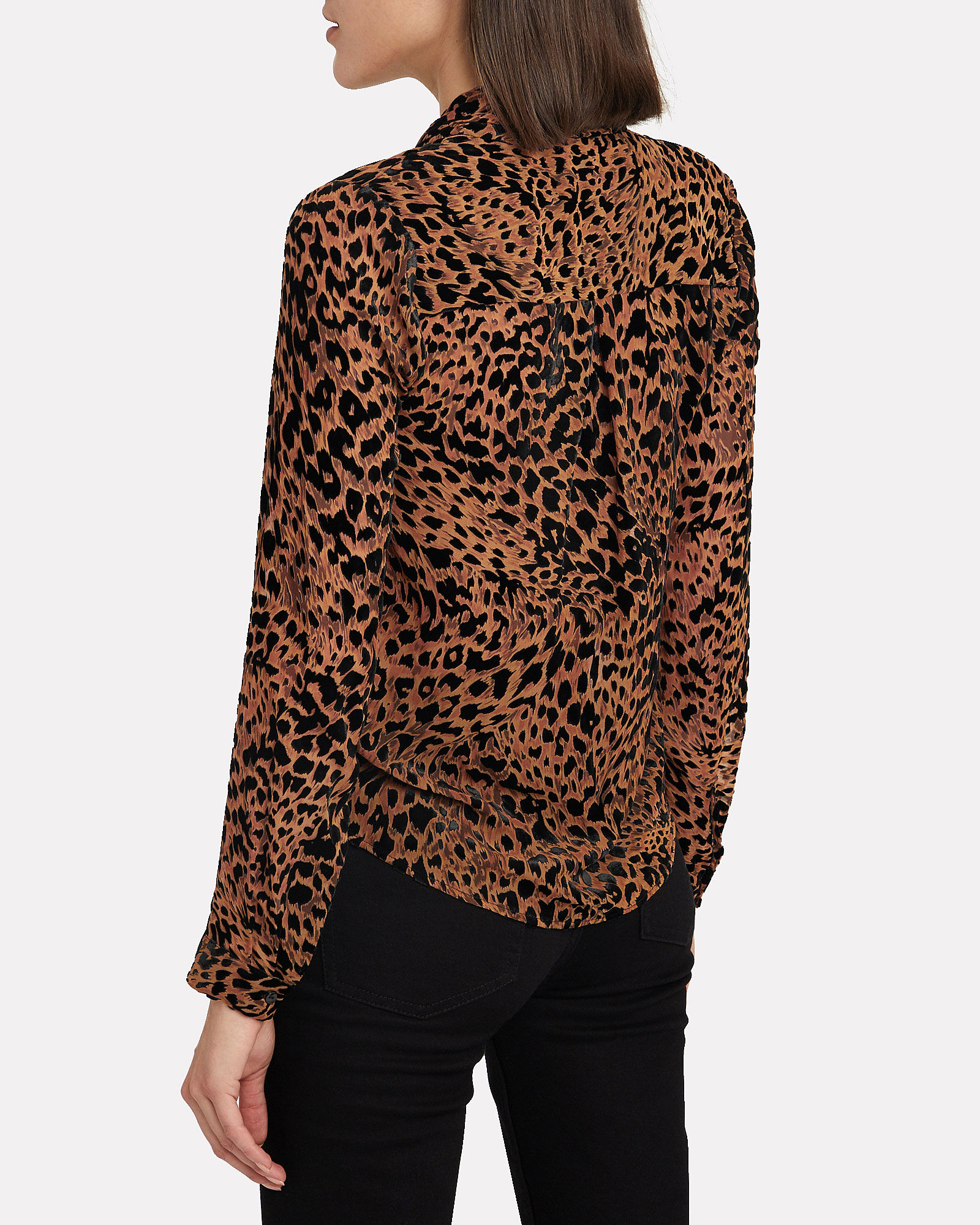 Lydia Leopard Devoré Wrap Blouse, MULTI, hi-res