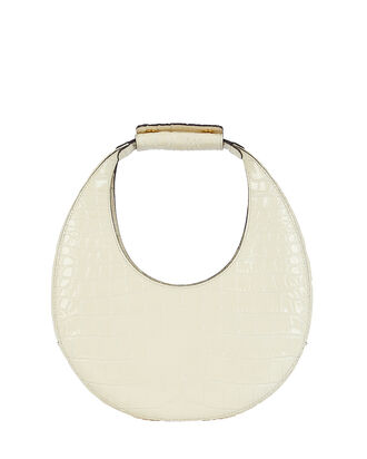 Moon Leather Hobo Bag, WHITE, hi-res