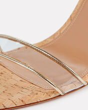 Minimalist 85 Leather-Trimmed PVC Wedge, GOLD, hi-res