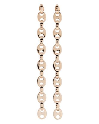 Eight Nano Linear Chain-Link Earrings, ROSE, hi-res