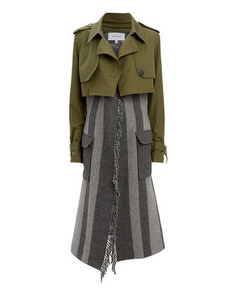 Trench Coat Combo, OLIVE/ARMY, hi-res