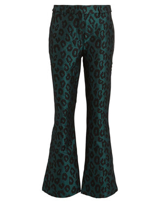 Cindy Leopard Jacquard Trousers, MULTI, hi-res