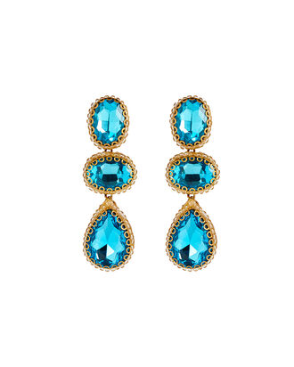 Deepa By Deepa Gurnani Hadlee Earrings, AQUA, hi-res