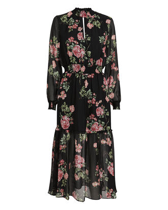Suri Silk Floral Maxi Dress, BLACK/FLORAL, hi-res