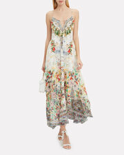 Time After Time Tie Front Maxi Dress, WHITE/FLORAL, hi-res