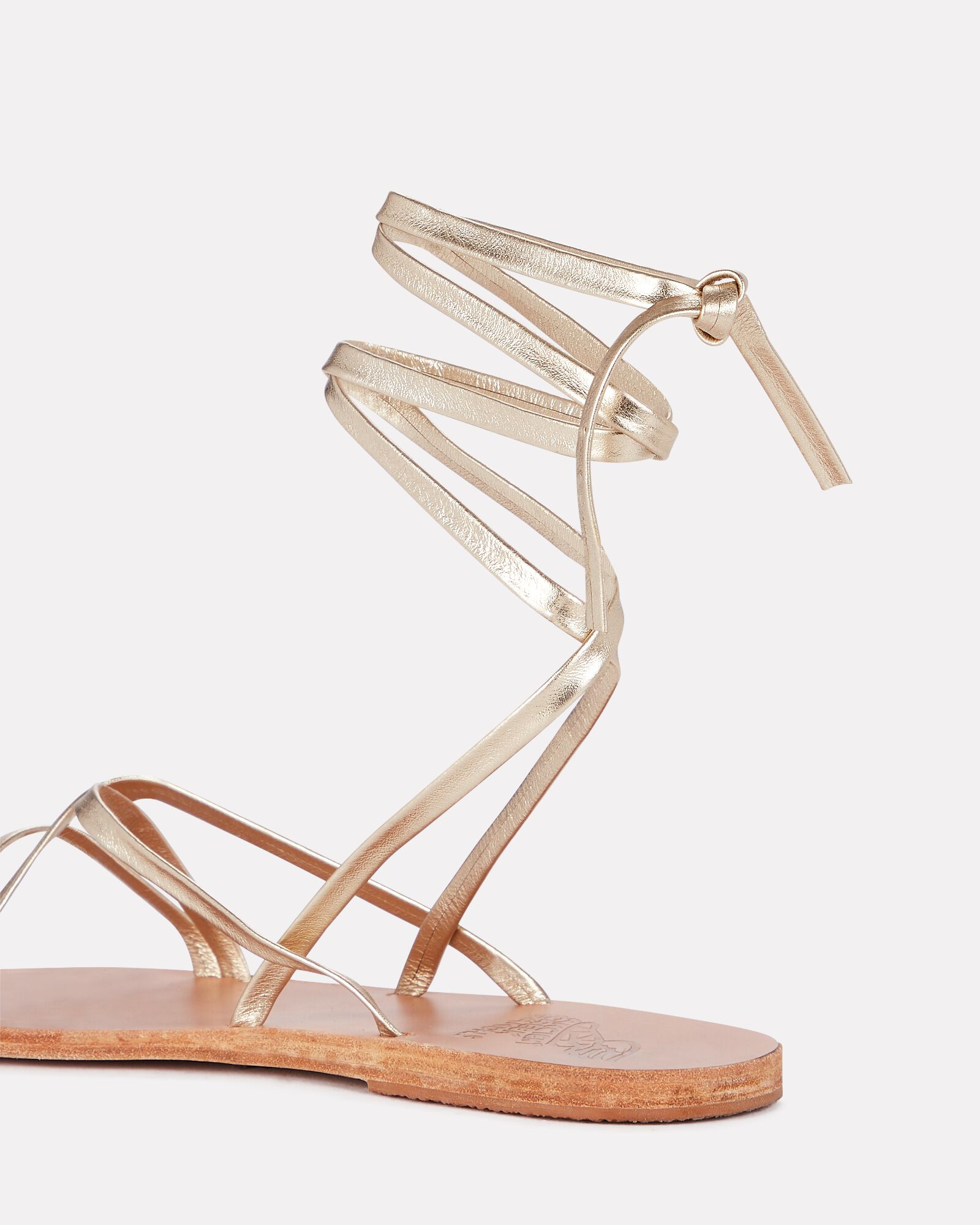Morfi Metallic Leather Wrap Sandals, GOLD, hi-res