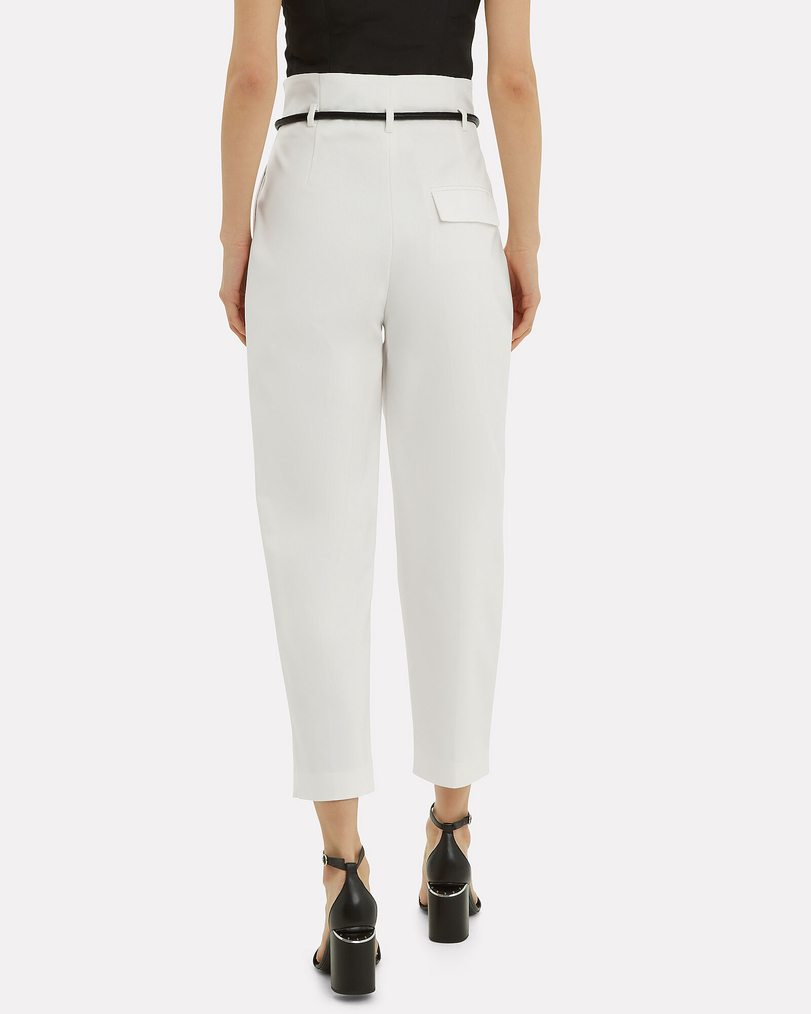 Origami Pleated Pants, IVORY, hi-res