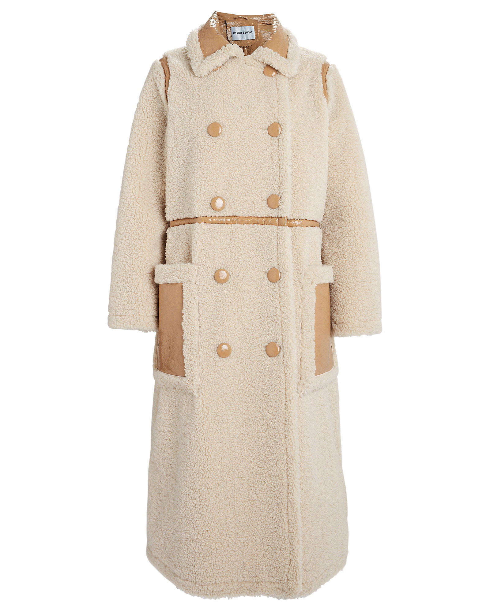 Morgan Faux Fur Reversible Coat, IVORY/CAMEL, hi-res