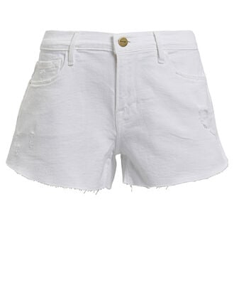 Le Cut-Off Denim Shorts, BLANC ROOKLEY, hi-res