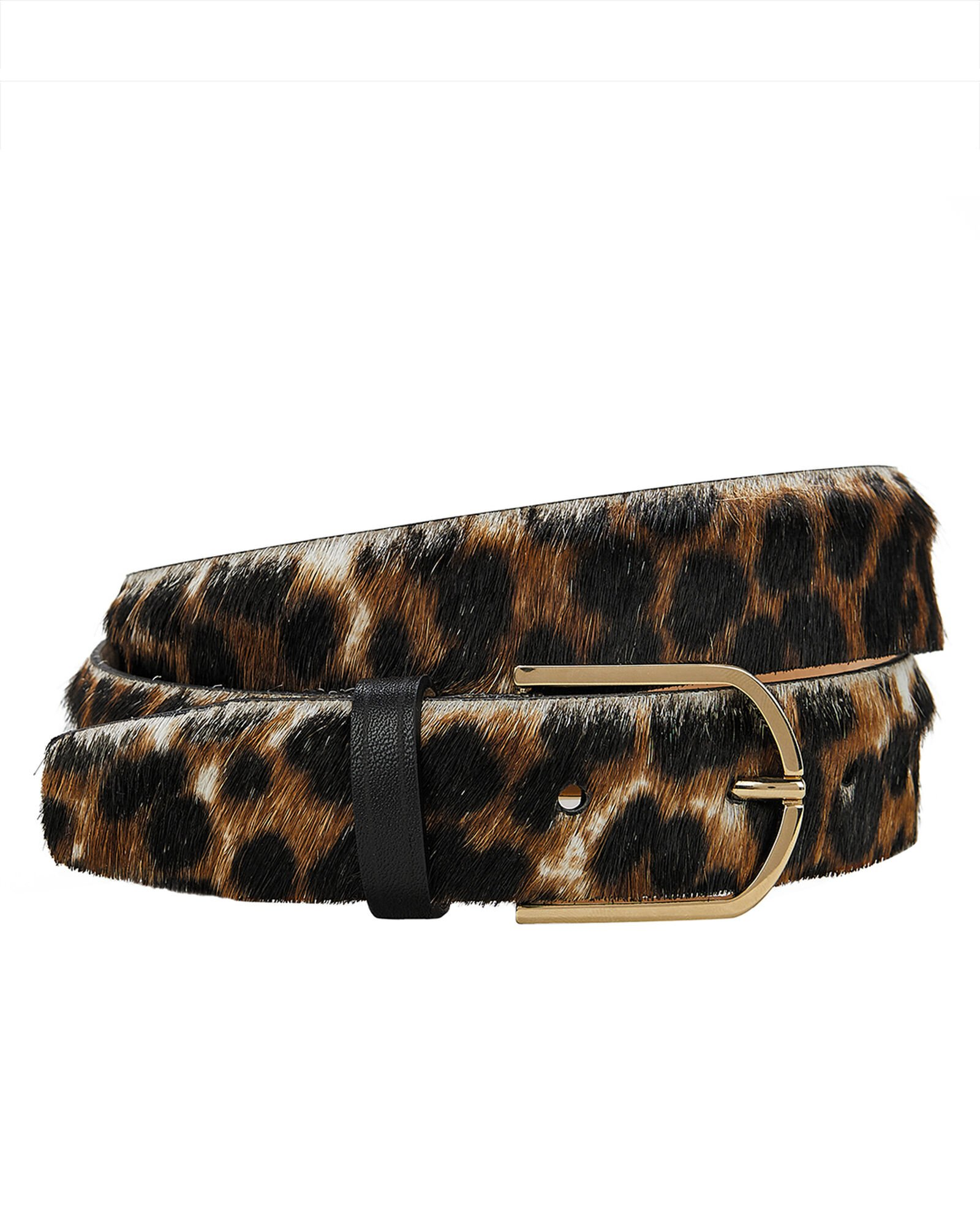Leopard Calf Hair Belt, MULTI, hi-res