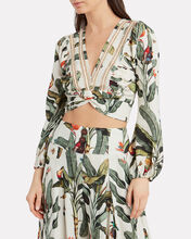 Tropical Cropped Wrap Top, MULTI, hi-res
