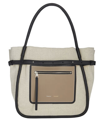 Inside-Out Canvas Tote, IVORY, hi-res