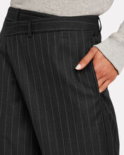 Crossover Pinstripe Wool Trousers, MULTI, hi-res