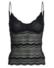 Ceylon Long Lace Camisole, BLACK, hi-res