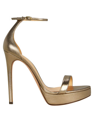 Cindy Platform Stiletto Sandals, GOLD, hi-res