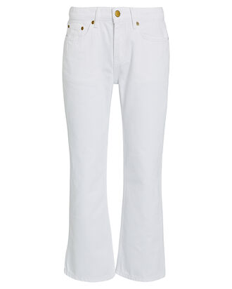 Kick Flare High-Rise Jeans, WHITE, hi-res