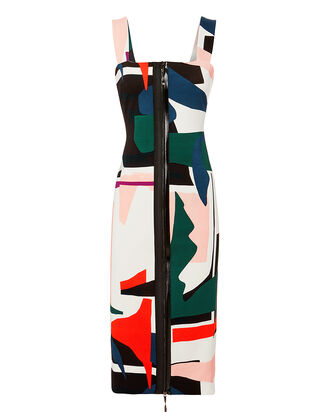 Orlena Abstract Print Dress, MULTI, hi-res